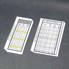 NSW Operator Sniper Ballistics Chart Stickers Set for Stock NAVY SEAL DEVGRU AOR