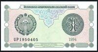 1994 UZBEKISTAN 1 SUM BANKNOTE * UNC * P-73 *