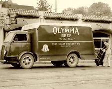 Olympia Beer Truck Photo 8x10  1950's Tacoma Washington