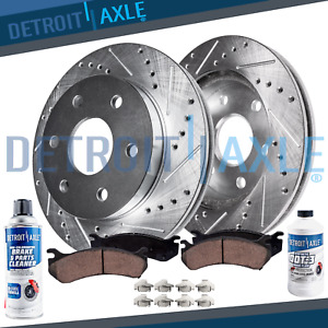 Rear Brake Rotors + Brake Pads Escalade Avalanche Silverado Brakes Rotor Pad kit