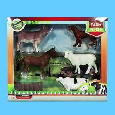 8x Kunststoff Schaf Schafe Bauernhof Tier Modell Spielfigur Set Spielzeug