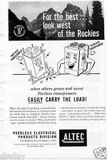1948 Print Ad of Altec Lansing Corp Peerless Transformers