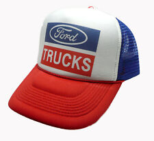 af22c3b7f6a Ford Trucks trucker hat mesh hat script red white blue new adjustable new