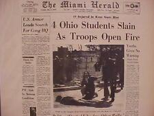 Vintage Newspaper Headline ~Ohio Kent State Students Shoting Shot Dead Killed~