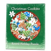 Current Puzzle 1000 Pieces Round Holiday Puzzle Christmas Cookies