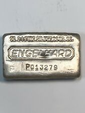 Engelhard, Poured 10 troy oz .999 Fine Silver Bar P Series