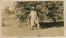 "1926 Portland, OR Woman, Golf Clubs and Dog ""Patsie"" Photograph"