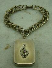 Vintage Swiss Made, Breitler, Wind Up, Musical Box Charm, W/ Bracelet Chain