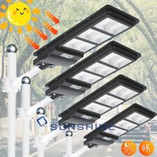9900000Lm Solar Led Street Light Outdoor Garden Ip67 Dusk-to-Dawn Road Lamp+Pole