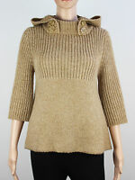 TopShop womens Size 10 loose fit hooded knit pullover jumper