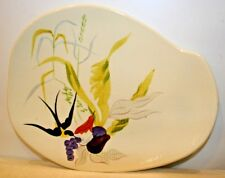 Vintage Redwing Pottery Swallow Hand Painted Plate Platter