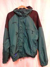 Columbia Powder Keg Lightweight Jacket Green & Black Mens L Large Many Pockets