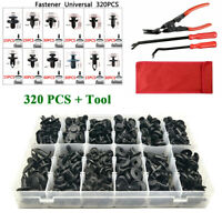 320PCS Plastics Fastener Buckle +3PCS Car Clip Plier Set Repair Puller Tools