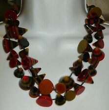 Sobral Formas Multi Cones Pradaruga Bead Statement Necklace Brazil Import