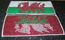 WALES Bar Towel Golf, Snooker, Hand Towel FREE POST UK WELSH DRAGON