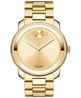 Movado Bold SWISS Gold Ion Plated Stainless Steel Men's Watch 3600258