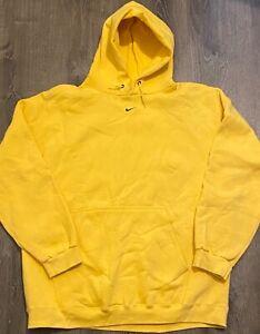 Nike center swoosh middle swoosh hoodie yellow rare XL Travis Scott