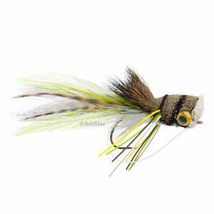 Umpqua Deerhair Bass Bug Frog Bass Surface Popper Fly Fishing Flies