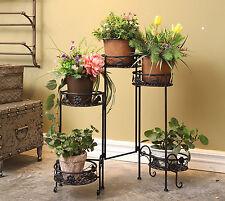 5 niveles Jardín Flor Vintage Plegable Planta Ollas Estantes Home Decor Soporte de exhibición