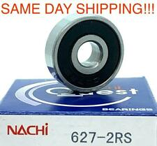 627 2rs Nachi Japan 7x22x7 Sealed Miniature Ball Bearing Same Day Shipping