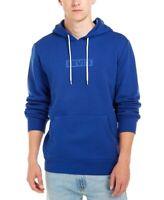 Levi's Mens Sweater Sodalite Blue Size Medium M Logo Graphic Hooded $59- 012