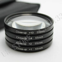 55MM Close Up Macro Lens Filter Kit +1 +2 +4 +10 for SLR DSLR Camera Lens+gift