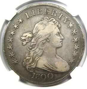 1800 Draped Bust Silver Dollar $1 Coin - Certified NGC VF20 - $2,675 Value!