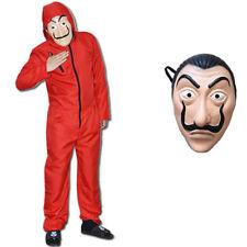 Halloween Unisex Dali La Casa De Papel Geld Heist Overall Maske Kostüm Cosplay