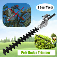 Hedge Trimmer Attachment For Petrol Power Head Brush Cutter Lawn Mower 9 Spline
