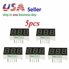 5pcs 3 Digit Red 7 Segment LED Display Digital Tube Common Anode 11 Pins Arduino