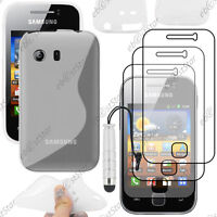 Coque Silicone Transparent Samsung Galaxy Y S5360 + Mini Stylet + 3 Films