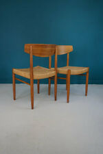 PAIR OF DANISH '501' AM MOBLER PAPER CORD CHAIRS C.1960 DENMARK / SCANDINAVIAN