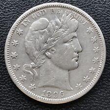 1896 O Barber Half Dollar 50c Rare Better Date New Orleans High Grade VF+ #16781