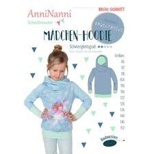 Schnittmuster AnniNanni Mädchen Hoodie Pullover Größen  86 bis 152