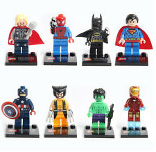 8Pcs Marvel Avengers Super Heroes Mini figures Building Blocks Toy Set