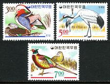Korea 493-495, MNH. Mandarine Ducks,Japannese Cranes,Ring-necked Pheasants, 1966