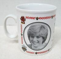 "Marriage Prince Charles Lady Di Wedding Kiln Craft Coffee Mug Cup 3 1/2"" England"