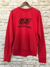 NEW 55 DSL by Diesel Long Sleeve Crewneck Sweater - Red - Large