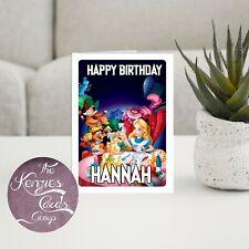 Personalizado Disny Lilo y stitch tarjeta de cumpleaños Acabado Brillante A5 260gsm V5