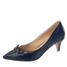 Women Bowknot Pointy Closed Toe Kitten Low Heel Classic Slip On Pump Slide Shoes