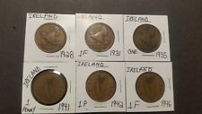 Ireland , Lot of Six Vintage Collectible Coins.1928 ,31, 35,41,42 &1946