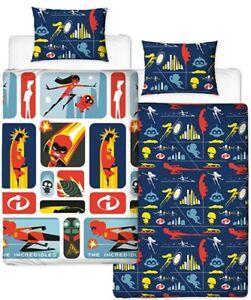 New Official Disney Incredibles 2 Single Duvet Set Bedding Set Oeko Tex Safe