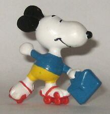 Vintage Peanuts Pvc Figurine Snoopy on Roller Skates Hong Kong We Ship Worldwide