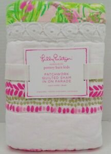 Pottery barn Lilly Pulitzer On Parade Quilted Sham Standard Pink Multi #9981