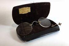 Anciennes lunettes binocles en étui Dubosc Optico Madrid