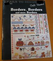 BORDERS, BORDERS AND MORE BORDERS     -  CROSS STITCH  LEAFLET
