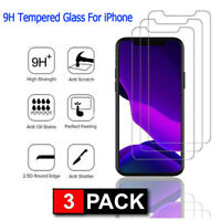 3-Pack Tempered GLASS For iPhone 11 Pro Max X Xs Max XR Screen Protector 9H Hard