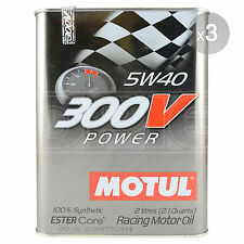 Motul 300V Power 5W-40 Racing Engine Oil 3 x 2 Litres 6L