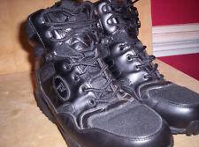 Propét Camp Walker Leather Hiking Boots Sz 8 XX 5E Black M3589 Military Security