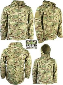Mens British Army Combat Military Hooded Jacket Recon Smock Fleece Hoodie New